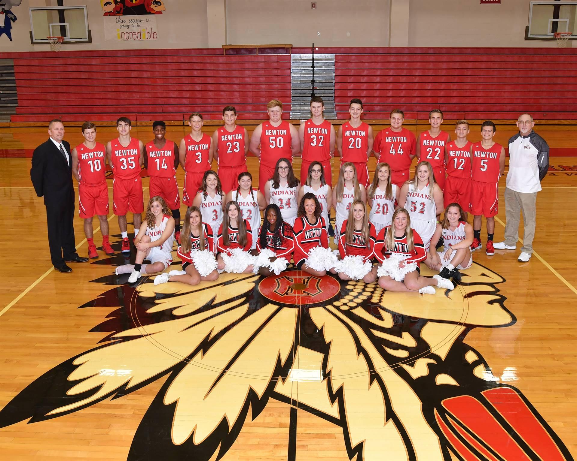 Newton JV Basket Ball Teams and Cheerleaders